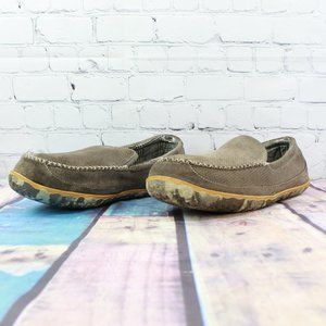 LL BEAN Mountain Lined Moccasin Slippers Size 14